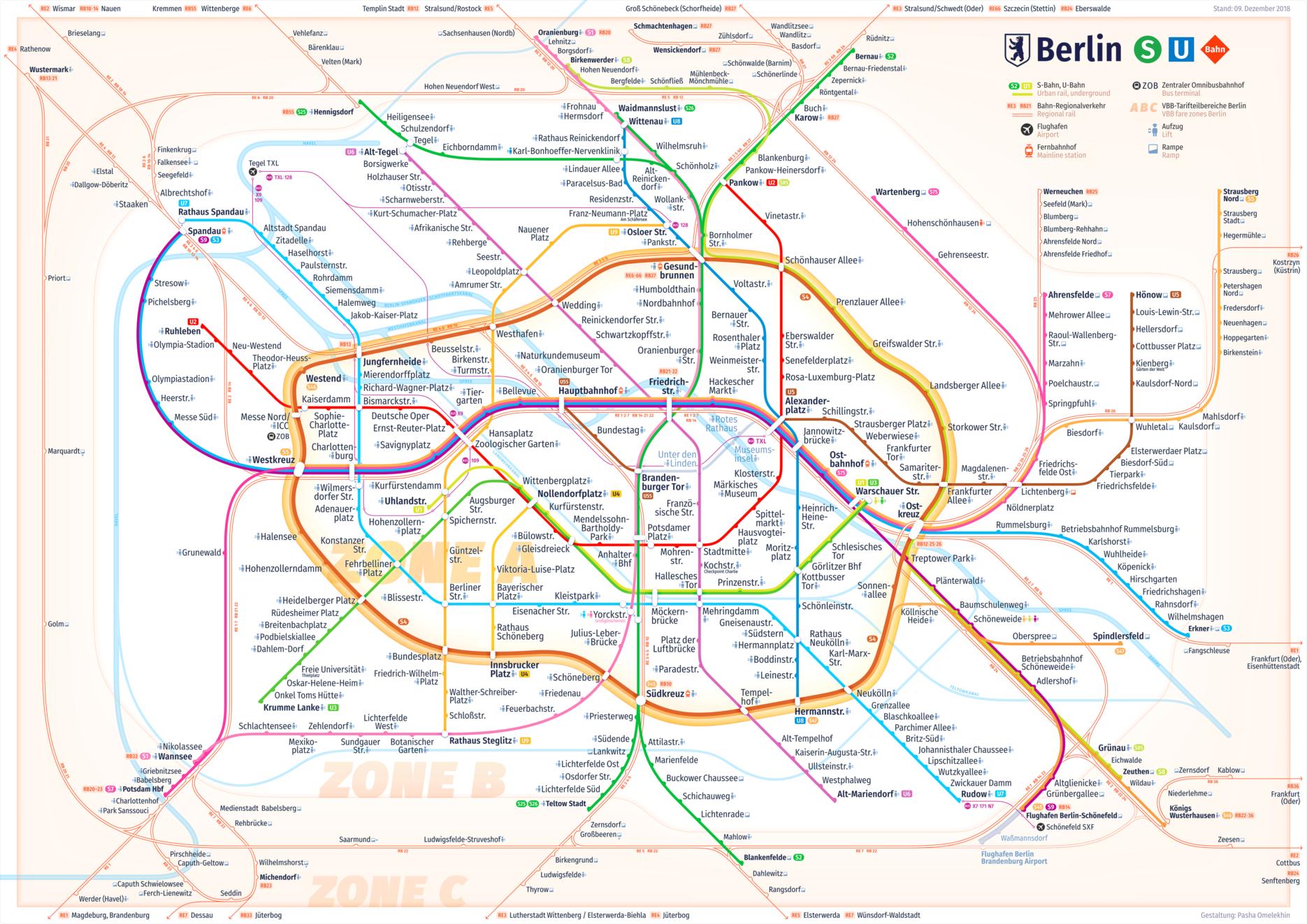 New Berlin Rapid Transit Map, 2018