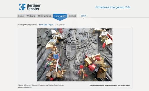 Screenshot Berliner Fenster Foto des Tages 2013