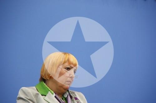 Bundespressekonferenz Bundesvorsitzende Grünen Claudia Roth 2011
