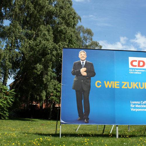 Wahlplakat CDU C wie Zukunft 2011