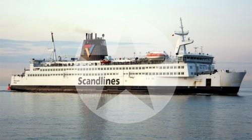 Fährschiff Prins Joachim Rostock Gedser Dänemark Fähre 2009