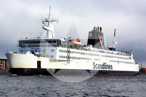 Fährschiff Prins Joachim Rostock Gedser Dänemark Fähre 2010