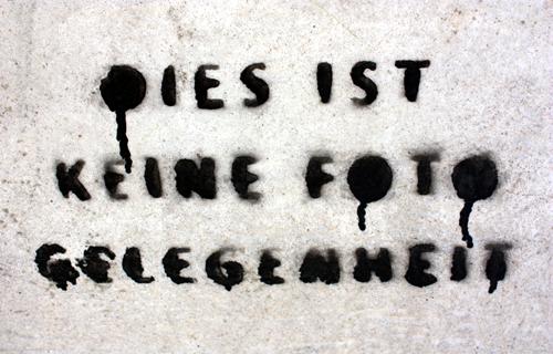 Dies ist keine Fotogelegenheit Berlin 2010