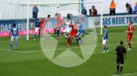 Vier Tore erzielten die Roten gegen die Blauen...