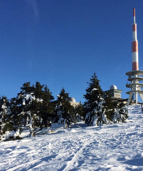 Der winterliche Brocken im Harz, 2017