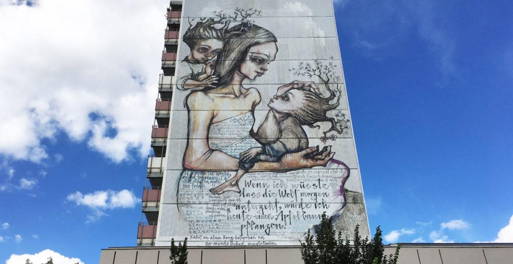 Herakuts Mural im Prenzlauer Berg