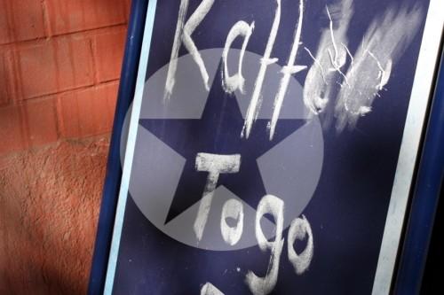 Aufsteller Kaffee Togo To Go 2011