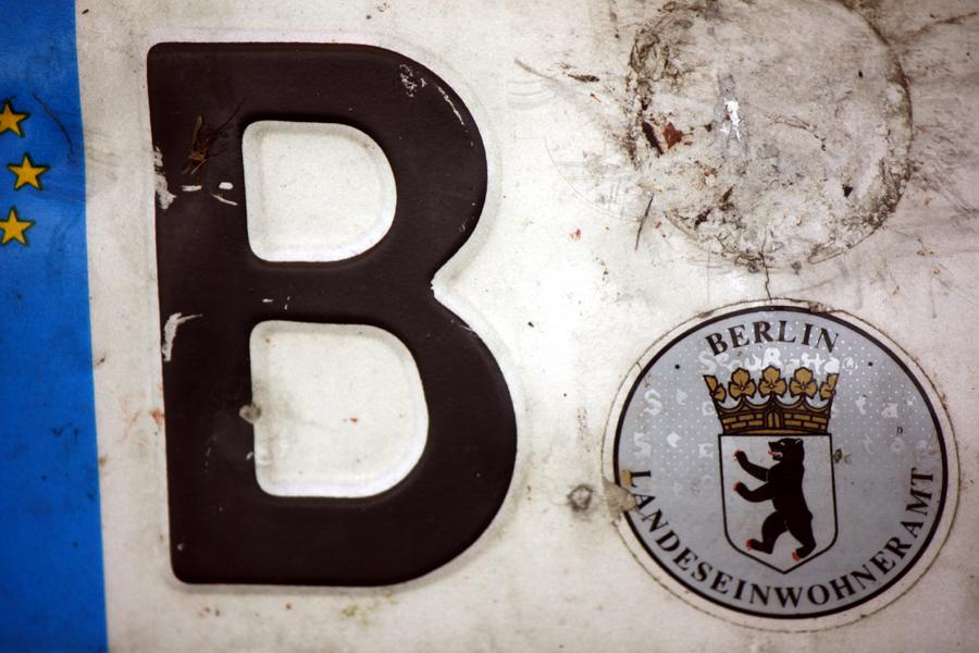 Kfz Nennzeichen Euro Nummernschild Berlin 2011