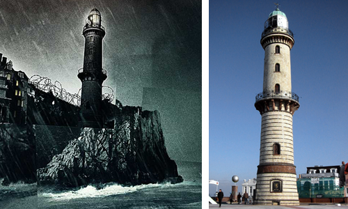 Vergleich mit Warnemünder Leuchtturm, 2002