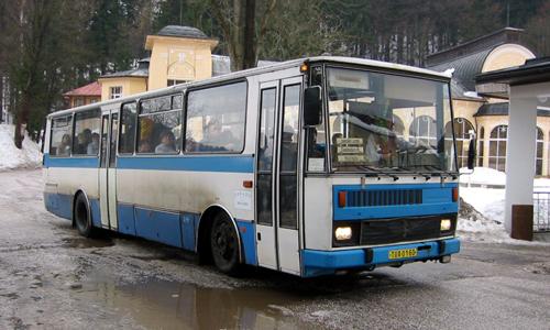 Linienbus von Janske Lazne nach Trutnov, 2004