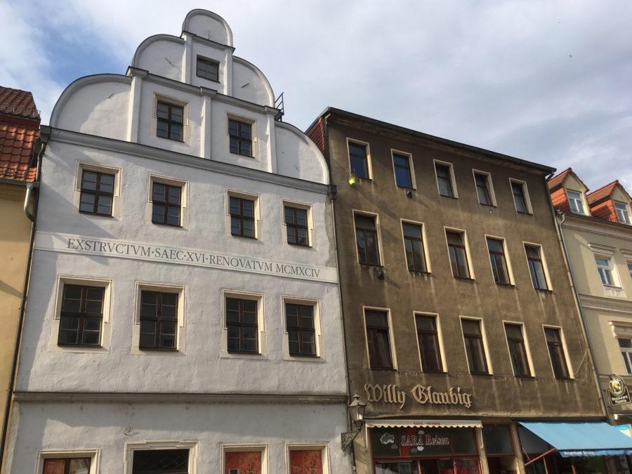 Häuserfassaden in Wittenberg