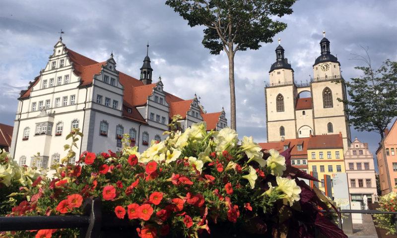 Marktplatz in der Lutherstadt Wittenberg