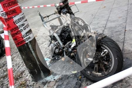 Moped Brand Berlin Friedrichshain 2011