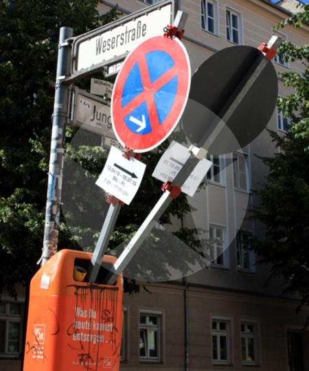 Mülleimer in Berlin-Friedrichshain, 2010