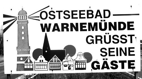 Ostseebad Warnemünde grüßt Gäste 2008
