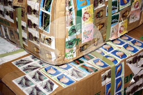 Post Pakete Briefmarken Taiwan 2011