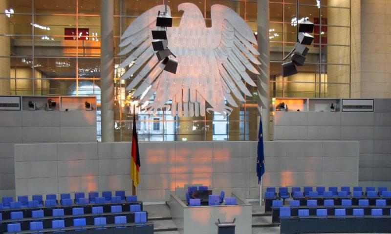 Plenarsaal mit Bundesalder im Reichstag, Berlin 2007