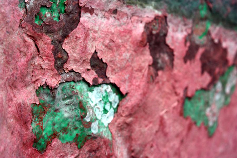 Rot-Grün Farbe Beschichtung GFK 2011