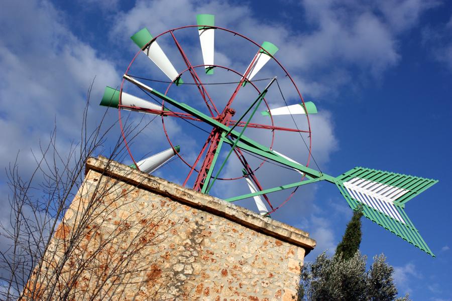 Sa Coma Mallorquinsche Windmühle Mallorca 2010
