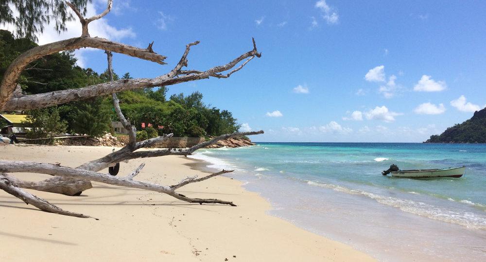 Anse Takamaka auf Praslin, Seychellen