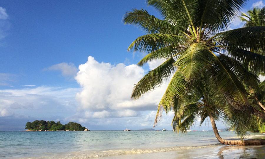 Anse Volbert auf Praslin, Seychellen