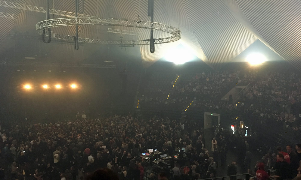 Vor dem Konzert von Sigur Rós im Tempodrom, 2017