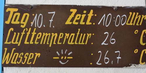 Strandbad Wendenschloß Berlin Temperaturen 2010