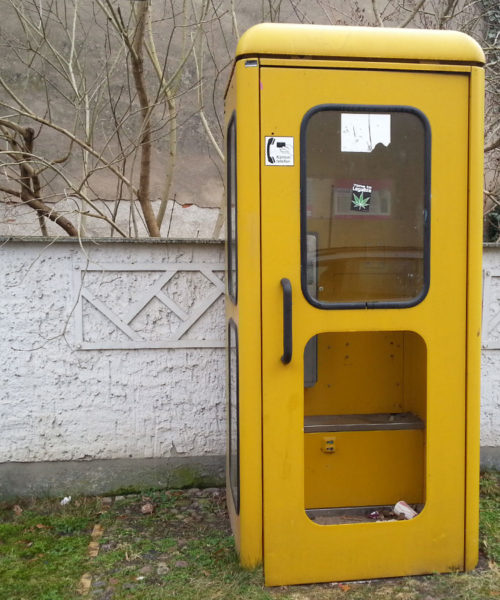Telefonzelle in Storkow, Brandenburg
