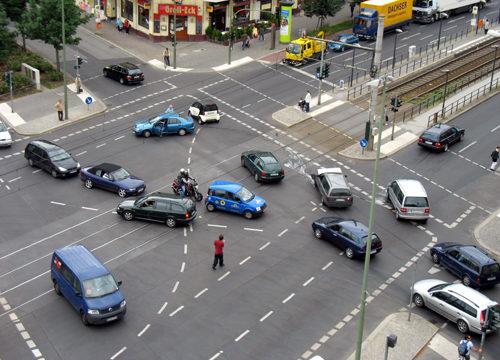 Verkehrsunfall Prenzlauer Allee Grellstraße Berlin 2007