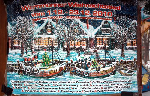 Warnmünner Wiehnachtstied Plakat Hansi Parczyk 2010